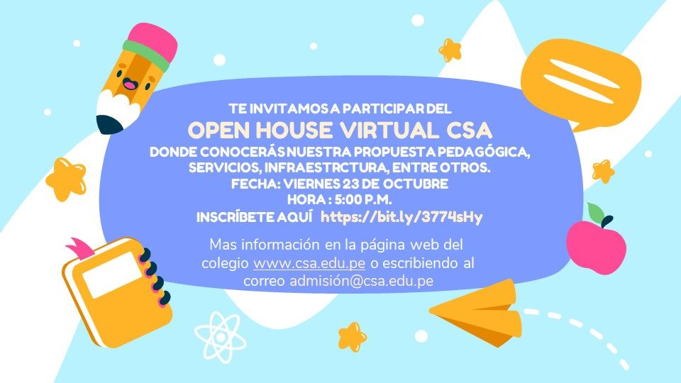 OPEN HOUSE VIRTUAL CSA